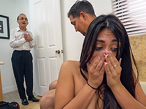 Lexy Bandera get's her pipes cleaned by a big cock image 6